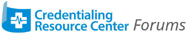 Credentialing Resource Center Forums
